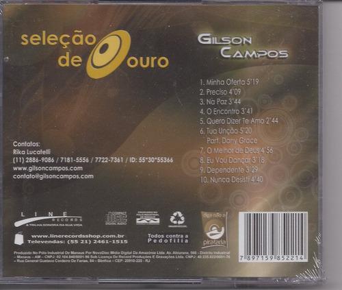 gilson campos - seleção de ouro - cd - gospel