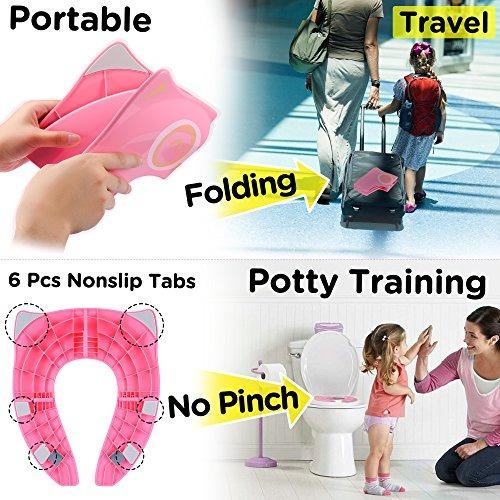 gimars almohadillas de silicona inodoro portátil para niño