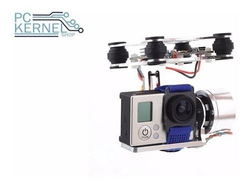 gimbal cámara gopro para drone doble motor y estabilizadores