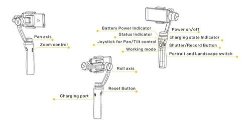 gimbal estabilizador celulares smartphone emax marsoar glide