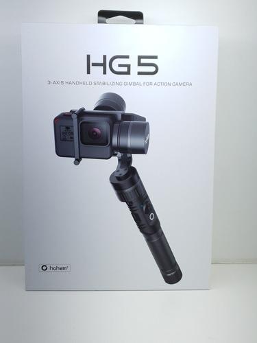 gimbal para câmeras de ação hohem hg5 estabilizador 3 eixos