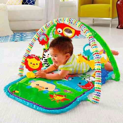 gimnasio 3 en1 musical rainforest de fisher price bebe