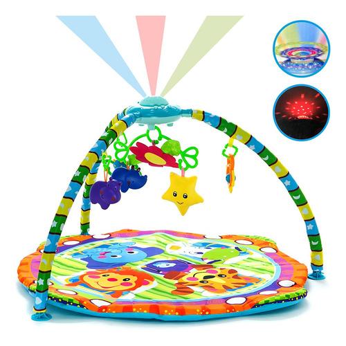gimnasio alfombra con proyector manta musical bebé luces móviles colores estimula el desarrollo excelente calidad