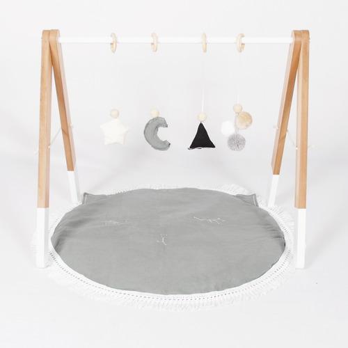gimnasio bebé de madera montessori, waldorf
