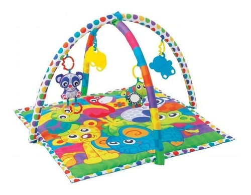 gimnasio bebe linking animal friends gym playgro 185477