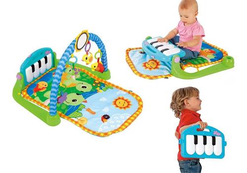 gimnasio bebe musical piano juguete - manta didáctica 3 en 1
