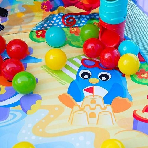 gimnasio bebé playgro pop and drop gym pelotero