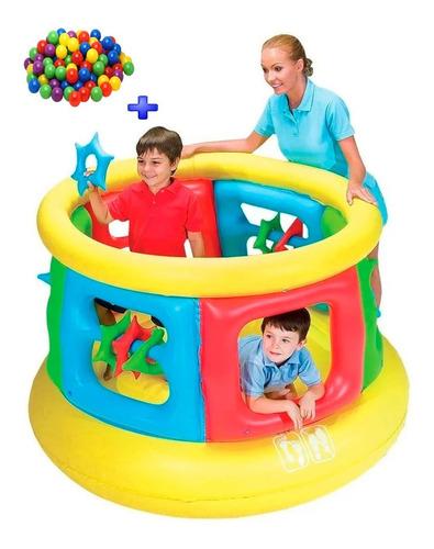 gimnasio castillo pelotero tubo +pelotas bestway 52056 3a6añ