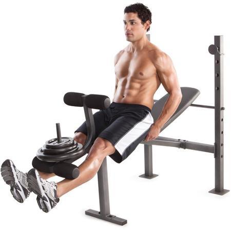 Gimnasio en casa banco de ejercicio pecho y piernas - Ejercicios de gimnasio en casa ...