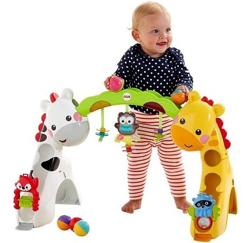 gimnasio fisher price bebe crece conmigo 3 etapas jirafa niño 20 minutos de musica
