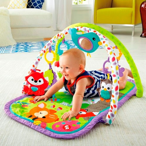 f6bdd4419 Gimnasio Fisher Price Bebe Musical Con Animales Multicolor - $ 2.850 ...