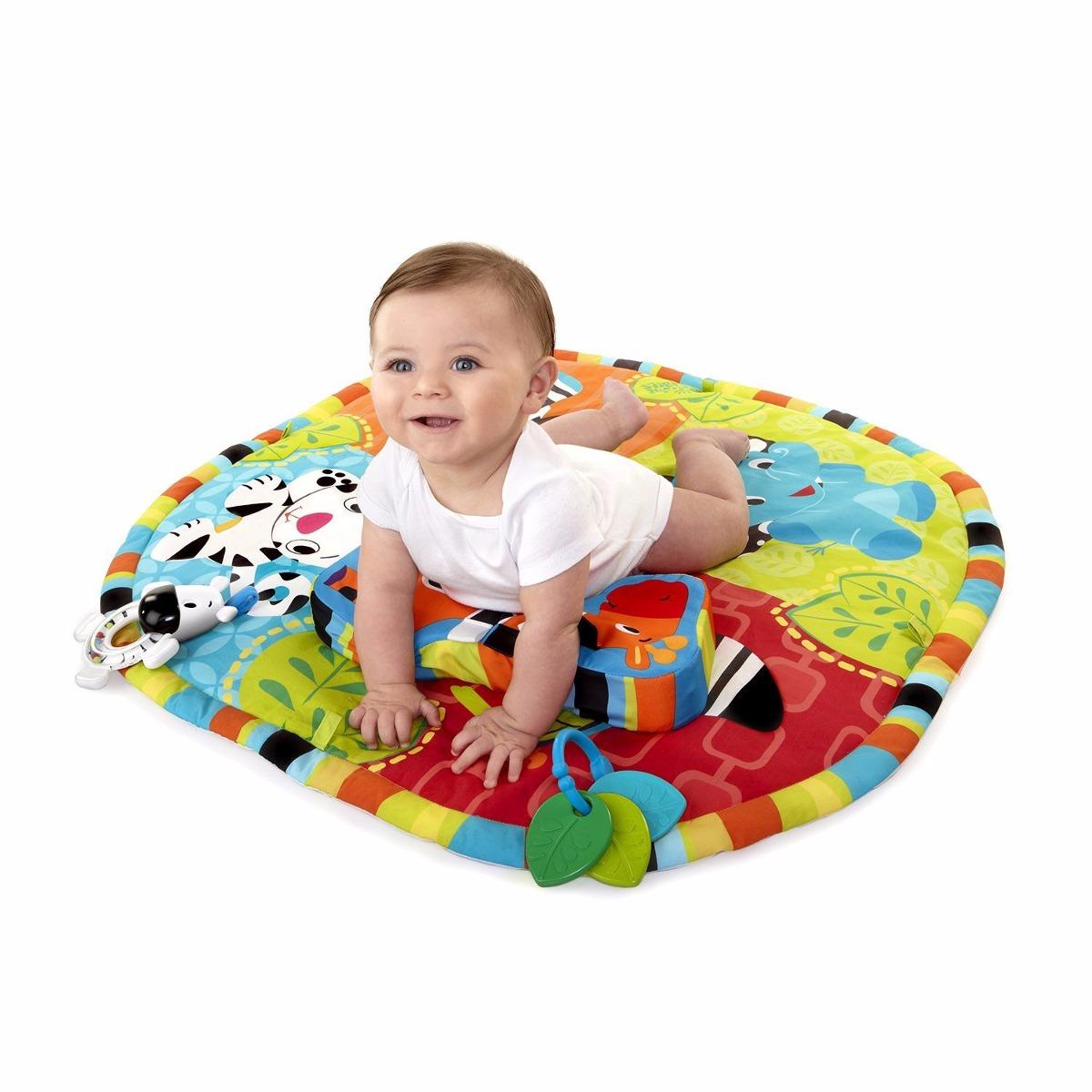 Gimnasio gym tapete actividades bebe bright starts safari 3 en mercado libre - Alfombra actividades bebe ...