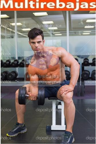 gimnasio juego de pesas 12 ruedas, dos barras, 4 tornillos