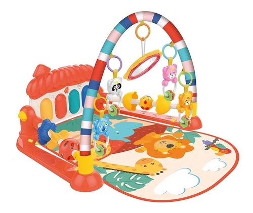 gimnasio manta bebe con piano musical cunero 3 en 1 en cadia