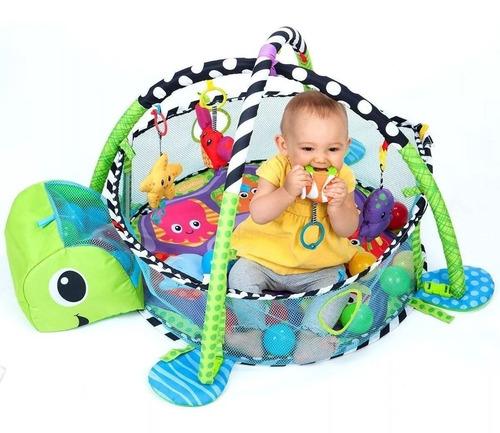 gimnasio manta didactica bebe pelotero 2en1 kinder ball cici