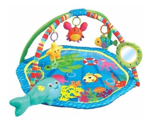 gimnasio manta didactica doble arco juguete espejo felcraft