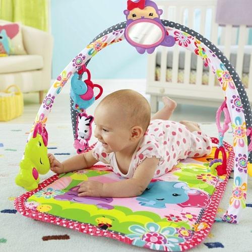 Gimnasio musical 3en1 rosa juegos y espejo fisher price for Espejo retrovisor bebe fisher price