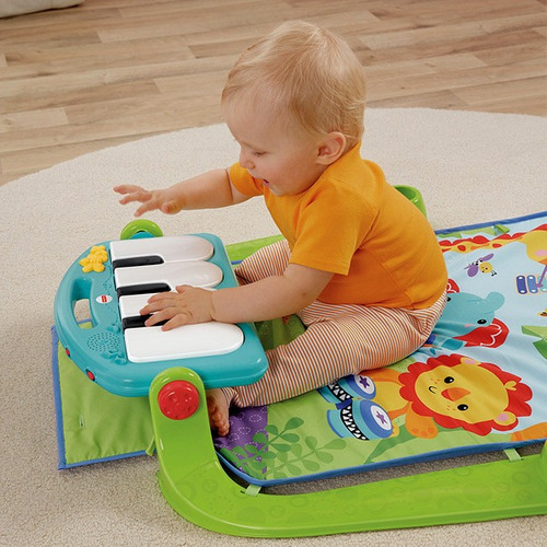 gimnasio musical con piano y luces de fisher price