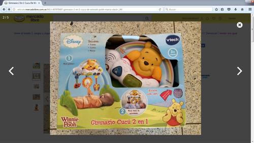 gimnasio musical para niños, 2 en 1.winnie pooh.