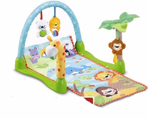 gimnasio para bebe rainforest 1-2-3 musica, selva, sonajeros