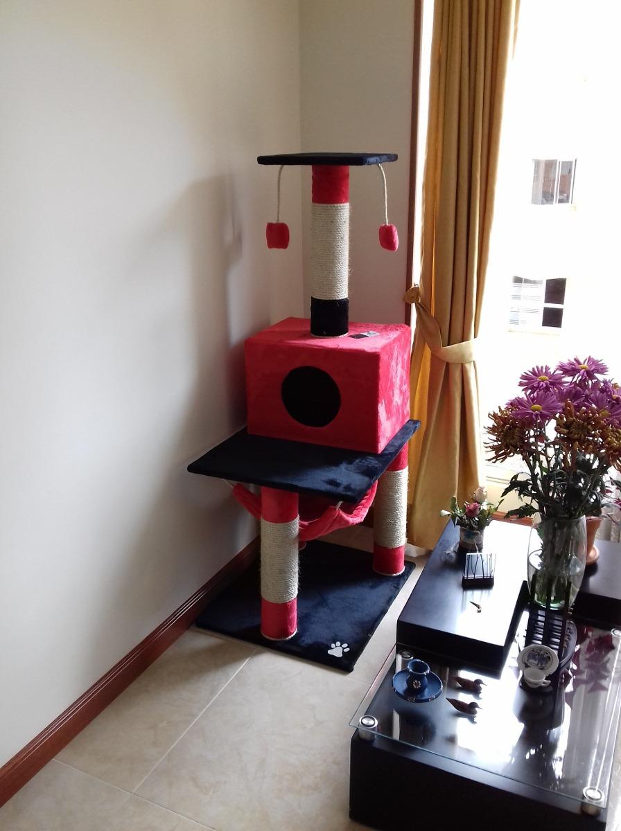 Gimnasio para gato rascador cama casa hamacas juguete for Para gimnasio