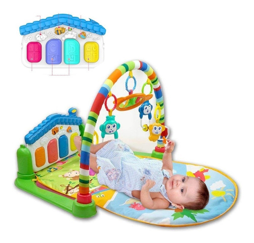 gimnasio piano bebes musical gym tapete juegos + envio