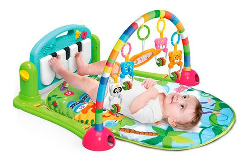 gimnasio piano manta con sonajeros para bebe
