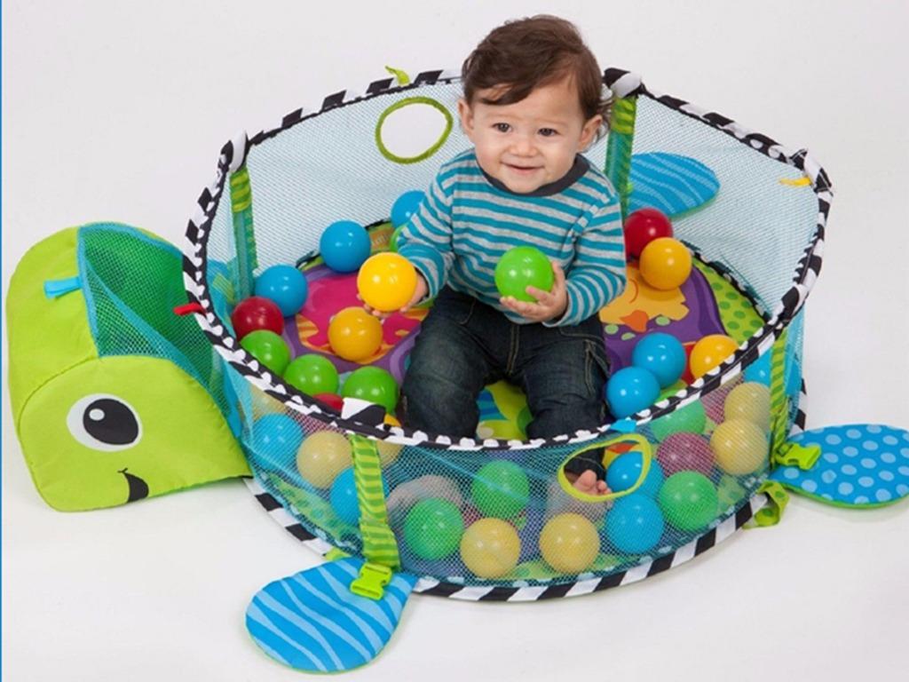 Gimnasio piscina de pelotas para bebe cuna corral tortuga for Piscinas bebes