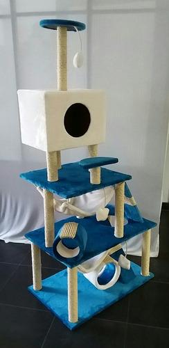 gimnasio rascador para gato cama casa hamaca juguete móvil