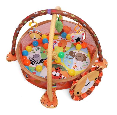 gimnasio tortuga / leon pelotero didáctico con 30 pelotas