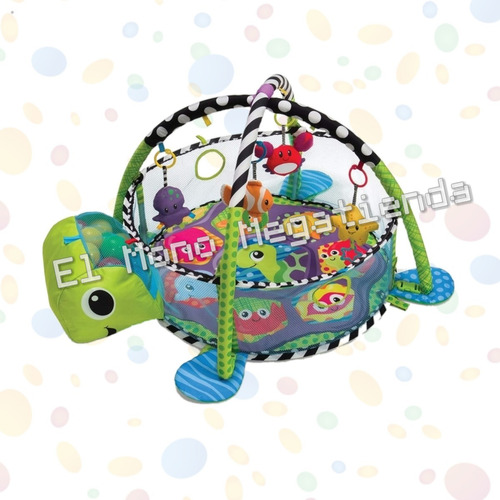 gimnasio tortuga  piscina de pelotas 3 en 1 didáctico gym
