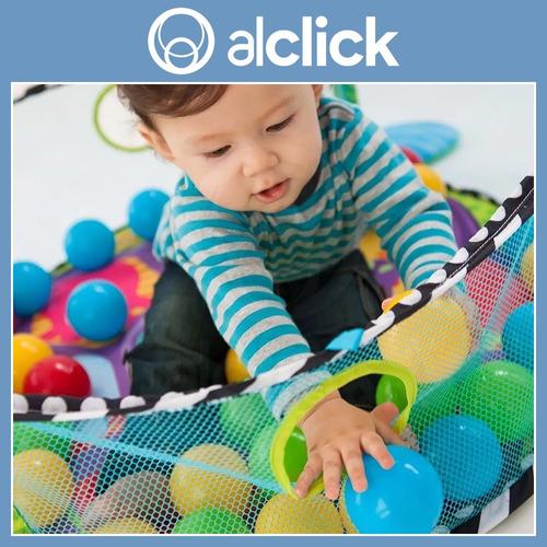 gimnasio y pelotero con red segura 2 en 1 kinder ball niños bebes juego didáctico pelotitas seguro y fácil de limpiar