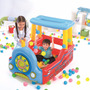 Juego Inflable Play Center Tren Con Pelotas