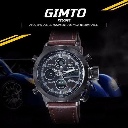gimto relojes - estilo militar multifunción - calidad diseño