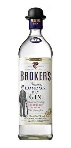 gin brokers gin ingles con el sombrerito envio gratis caba