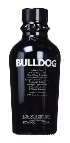 gin ginebra bulldog london dry 700ml importado premium