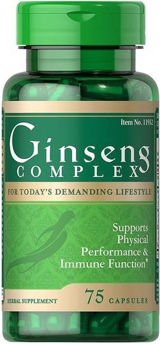 ginseng complex rojo panax americano 75cap royal jelly y b12