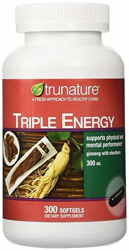 ginseng triple energia  300 mg americana 300 capsulas