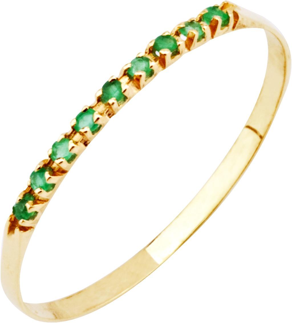 7a8a35b23439f giog anel meia aliança esmeralda 9 pedras ouro 18k feminino. Carregando  zoom.
