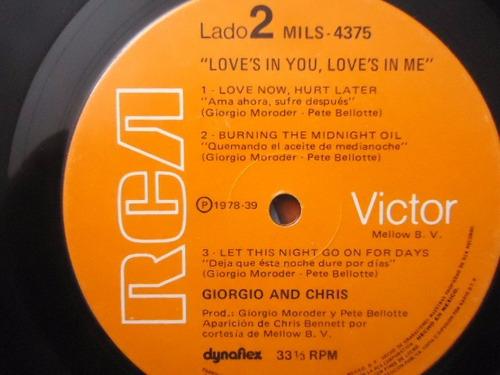 giorgio and chris / love´s in you love´s in me lp acetato