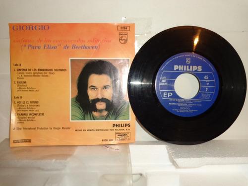giorgio moroder lonely lovers...  7 disco vinil acetato 1973