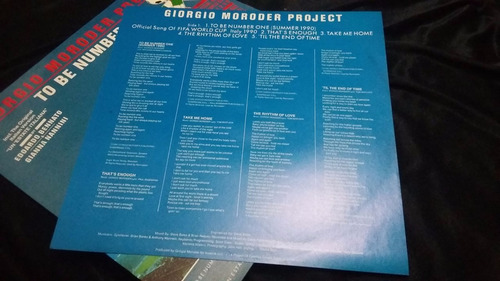 giorgio moroder project to be number one lp vinilo pop