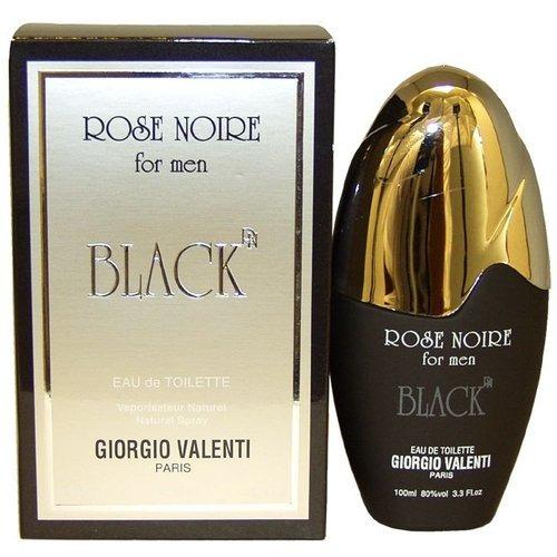 giorgio valenti rose noire black edt vaporizador, 3.3 oz