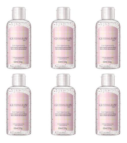 giovanna baby gel higienizante rosa 60ml (kit c/06)