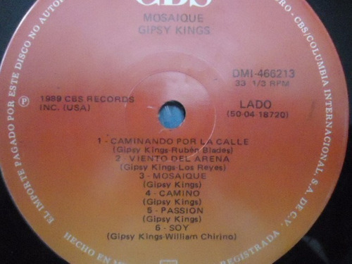gipsy kings / mosaique vinyl lp acetato