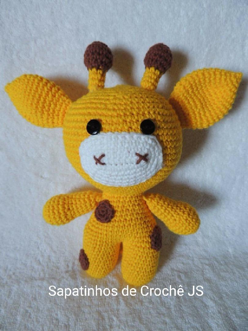 Girafa Girafinha Decoração Amigurumi Crochê Bebê Infantil Potinho ... | 1080x810