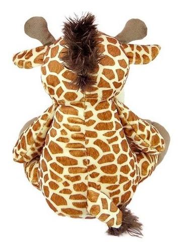 girafa de pelúcia 38cm sentada - bichinho safari