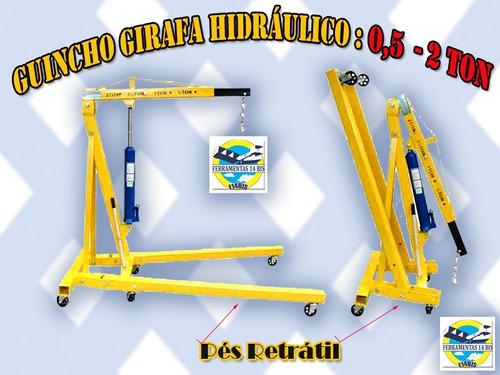 girafa guincho hidráulico - 2 ton - pés retrátil