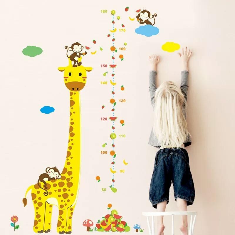 555f507a1 girafa macaco regua crescimento adesivo de parede infantil. Carregando zoom.