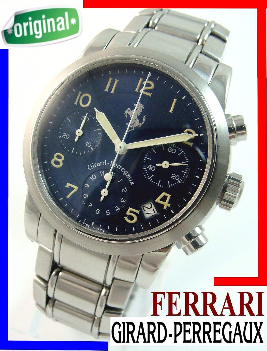 736ec7340dd Girard Perregaux Ferrari Cronógrafo Auto. Aço-aço! - R  8.799